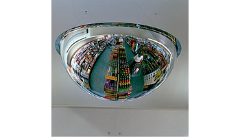 Hemispherical mirror with the coverage of 360 degrees