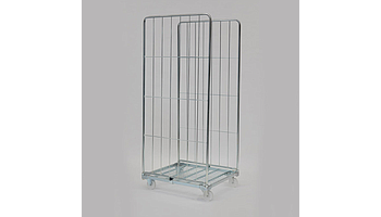 Plastic or galvanized wire basket with two sides