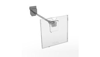Label holder with mounting on the hooks
