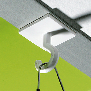 PLASTIC ADHESIVE CEILING HOOK, 25X25 MM