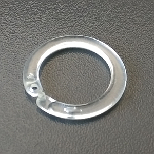 PLASTIC ROUND RING FOR DISPLAY WITH SNAP CLOSING, INSIDE D 22 MM