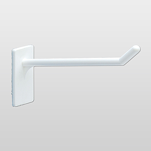 """I"" HOOK, 5 MM DIAMETER, WITH BACK ADHESIVE, 39X19 MM (HXL)"