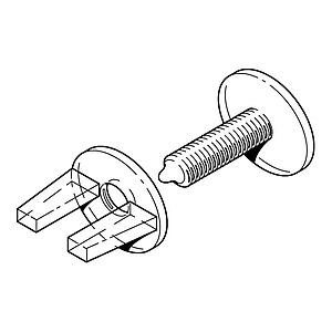 VIKING SCREW AND NUT PLASTIC SET FOR FASTENING 14 MM MATERIALS THICKNESS