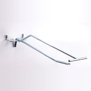 SIMPLE HOOK WITH 6 MM DIAMETER, 400 MM LENGTH AND UPPER LABEL HOLDER