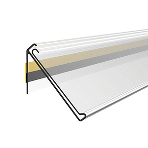 ADHESIVE DBR SCANNING RAIL, 39X1000 MM, 30 DEGREES INCLINATION, WITH GRIP