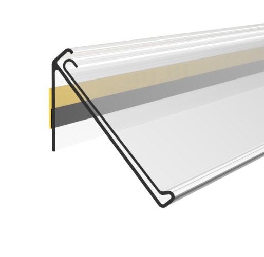ADHESIVE DBR SCANNING RAIL, 55X1000 MM, 30 DEGREES INCLINATION, WITH GRIP