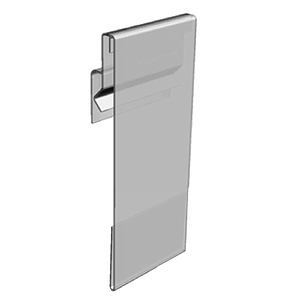 PVC POCKET WITH FLEXIBLE HINGE, PARALLEL DISPLAY, 53X100 MM (HXL)