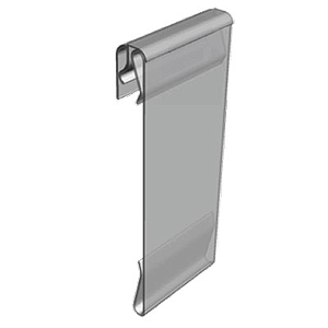 PVC POCKET WITH FLEXIBLE HINGE, PARALLEL DISPLAY, 105X100 MM (HXL)