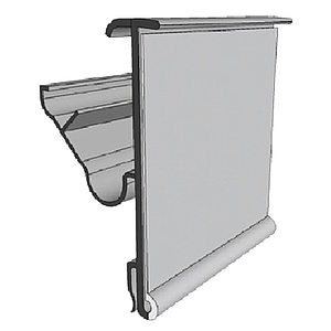 LS PROFILE, 52X1000 MM, 2 ANGLES MECHANICAL FIXING AND CLIP, WITHOUT GRIP