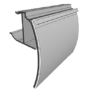 WWT PROFILE, 39X1250 MM, MECHANICAL FIXING ON WIRE, WITH HINGE AND GRIP