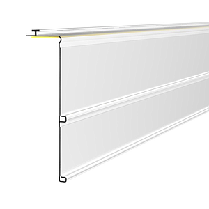 DOUBLED SCANNING RAIL, 39+30 MM WIDTH, 1000 MM LENGHT, WITH HINGE AND ADHESIVE, WITHOUT GRIP