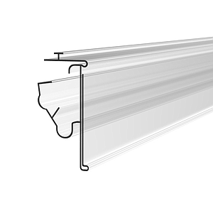 LS PROFILE, 52X1000 MM, MECHANICAL FIXING, SNAP ON RAIL, WITHOUT GRIP