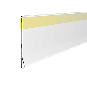 DBR SCANNING RAIL, 52X1000 MM, WITH ADHESIVE TAPE FOR ROUNDED SHELVES, WITHOUT GRIP