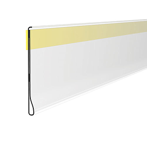 DBR SCANNING RAIL, 39X1000 MM, WITH ADHESIVE TAPE FOR ROUNDED SHELVES, WITHOUT GRIP