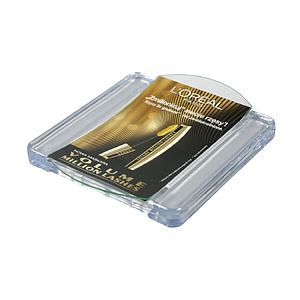 PLASTIC RECTANGULAR CASH TRAY, 210X175X28 MM WITH 2 MM GLASS SURFACE, FOR 175X111 MM PRINT