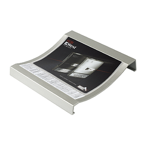 ALUMINIUM CASH TRAY, 1 MM PET SURFACE, 180X180X30 MM, STICKER PRINT 160X141 MM