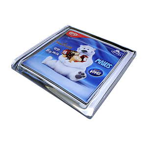 GLASS CASH TRAY, 175X175X18 MM, 141X141 MM PRINT SIZE