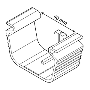 CLICK CLIP FOR WIRE BASKETS WITH D 2-5 MM, 40 MM RODS DISTANCE