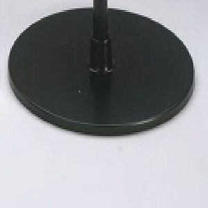 PLASTIC BASE 90 MM D, FOR 7 MM D TUBES, WITH STEEL INSERT