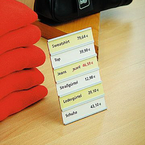 110X175 MM, CLICK LABEL HOLDER FOR 6 LABELS, THICKNESS OF PRINT 0,9 MM