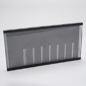 PLASTIC CLICK CASSETTE 160X83 MM WITH SLIDING CLEAR COVER FOR 7 DIGITS PLUS ONE MORE
