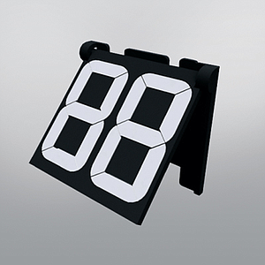 PP30 ARTICULATED MODULE BLACK, 36X39 MM, 2 DIGITS 30 MM H, WITH HOLDER INCLUDED