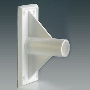 FIXING ADHESIVE SUPPORT FOR 18,5 MM D TUBES, 90 DEGREES ANGLE, 50X115 MM BASE SIZE