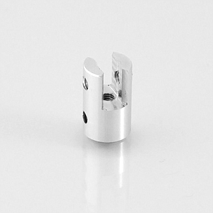 ALUMINIUM ACCESSORY, 10X20 MM (DXH), WITH DUBLE HORIZONTAL MOUNTING, FOR 0,5-4 MM MATERIAL THICKNESS