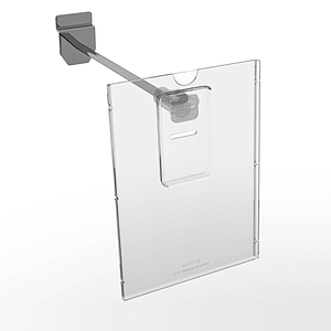REFLEX LABEL HOLDER, 105X148 MM (A6), WITH MOUNTING ON THE END OF HOOKS