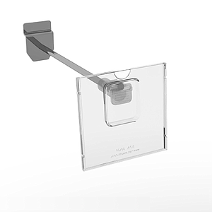 REFLEX LABEL HOLDER, 80X80 MM, WITH MOUNTING ON THE END OF HOOKS