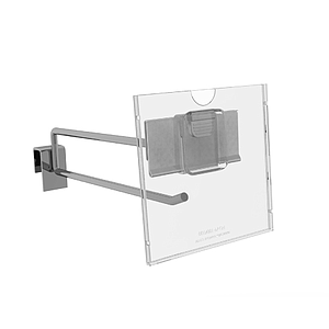 REFLEX LABEL HOLDER, 100X100 MM WITH MOUNTING OVER PRICE TICKET ON THE HOOK