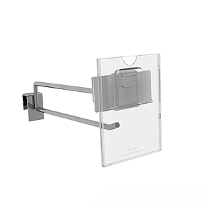 REFLEX LABEL HOLDER, 74X105 MM (A7) WITH MOUNTING OVER PRICE TICKET ON THE HOOK