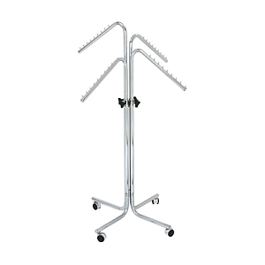 EXPO STAND WITH FOUR ARMS INCLINED TO 135 DEGREES, ADJUSTABLE HEIGHT FROM 1250 TO 1800 MM