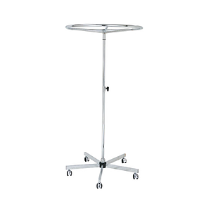 CIRCULAR METAL STAND, 800 MM DIAMETER, ADJUSTABLE HEIGHT FROM 1200 TO 2000 MM