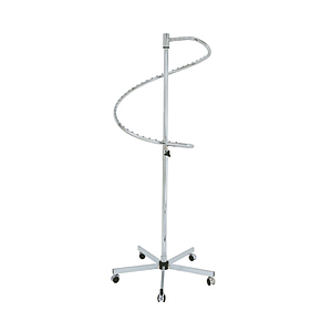 DOUBLE METAL COILED STAND, 50 MM TUBE DIAMETER, ADJUSTABLE HEIGHT FROM 1400 TO 2000 MM