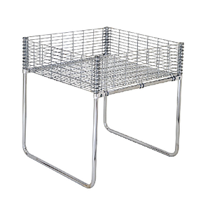 PROMOTIONAL RECTANGULAR TABLE MADE OF GALVANIZED WIRE, 860 MM HEIGHT