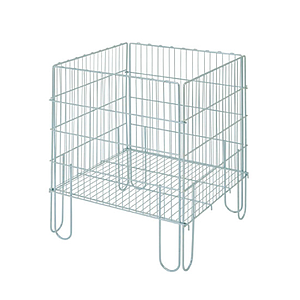 PROMOTIONAL RECTANGULAR BASKET MADE OF GALVANIZED WIRE, 800X600X600 MM (HXLXW)