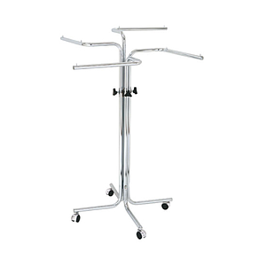 EXPO COILED STAND, WITH 4 PERPENDICULAR ARMS ON SUPPORTING SHAFT, ADJUSTABLE HEIGHT FROM 1200 TO 1800 MM