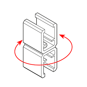 FRAME CONNECTOR, SWIVEL TYPE, FOR FRAMES SERIES 1