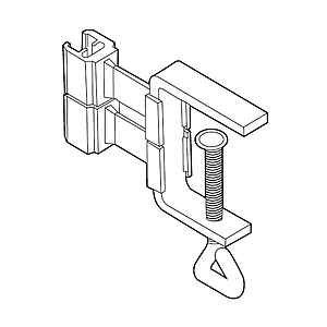 FLEXIBLE CLIP WITH G-CLAMP, 1-40 MM MATERIAL THICKNESS, FOR FRAMES SERIES 200