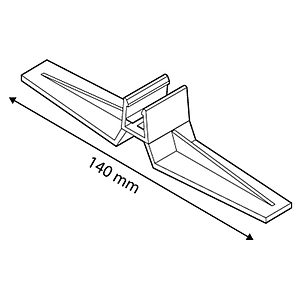 FRAME BASE SUPPORT, VERTICAL POSITION, FOR FRAMES SERIES 1, 140 MM LENGTH