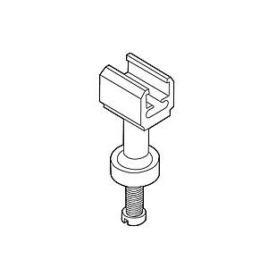 SHELF HOLDER WITH INTERNAL THREAD M5 AND SCREW, FOR FRAMES SERIES 1