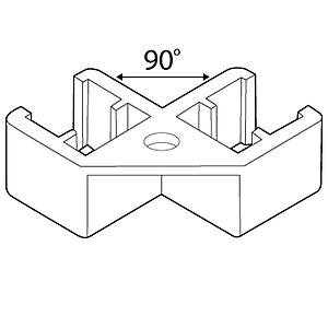 SQUARE HANGER FIXED, 90 G ANGLE, FOR FRAMES SERIES 1