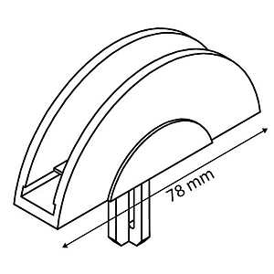 DEKO T-PIECE SEMICIRCULAR FOR FRAMES SERIES 1, FIXING ONTO 16 MM D TUBES