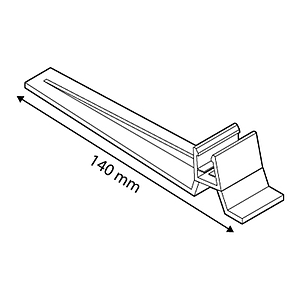 FRAME BASE SUPPORT, 15 G INCLINED, FOR FRAMES SERIES 2, 140 MM LENGTH