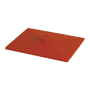 PLASTIC BASE K WITH INNER METAL INLAY, 200X150 MM, FITS WITH 12 MM D TUBES