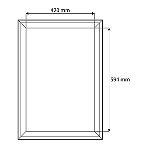 PORTRAIT FRAME MADE OF WOOD, 420X594 MM (A2), WITH M10 THREADED HOLE