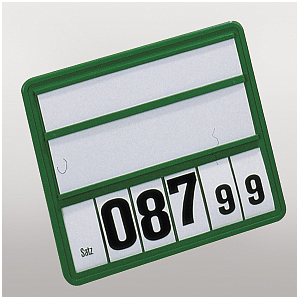 190X210 MM, PLASTIC CLICK PRICE DISPLAY WITH 6 DIGITS AND 2 INSERTS : 40X190 MM AND 55X190 MM