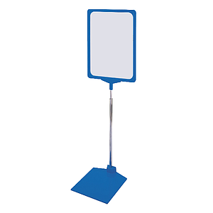 SHOWCARD STAND KB, ADJUSTABLE TUBE 320-620 MM, PLASTIC BASE WITH METAL INLAY, A3P