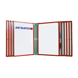 POSTERLINE WALL, 10 A2 FRAMES, METALIC REAR PANEL, WITHOUT POCKETS